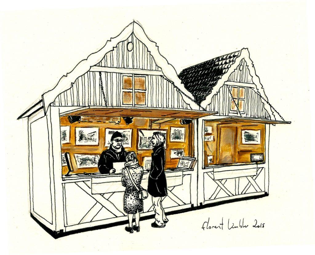 Chalet marché de Noêl