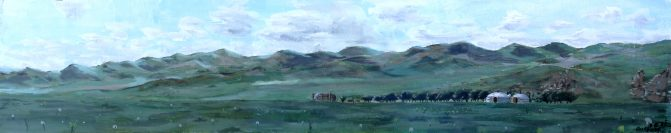 panorama, yourt de Lundu
